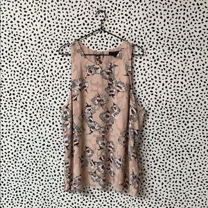 Banana Republic Pink Bow Back Embroidered Blouse